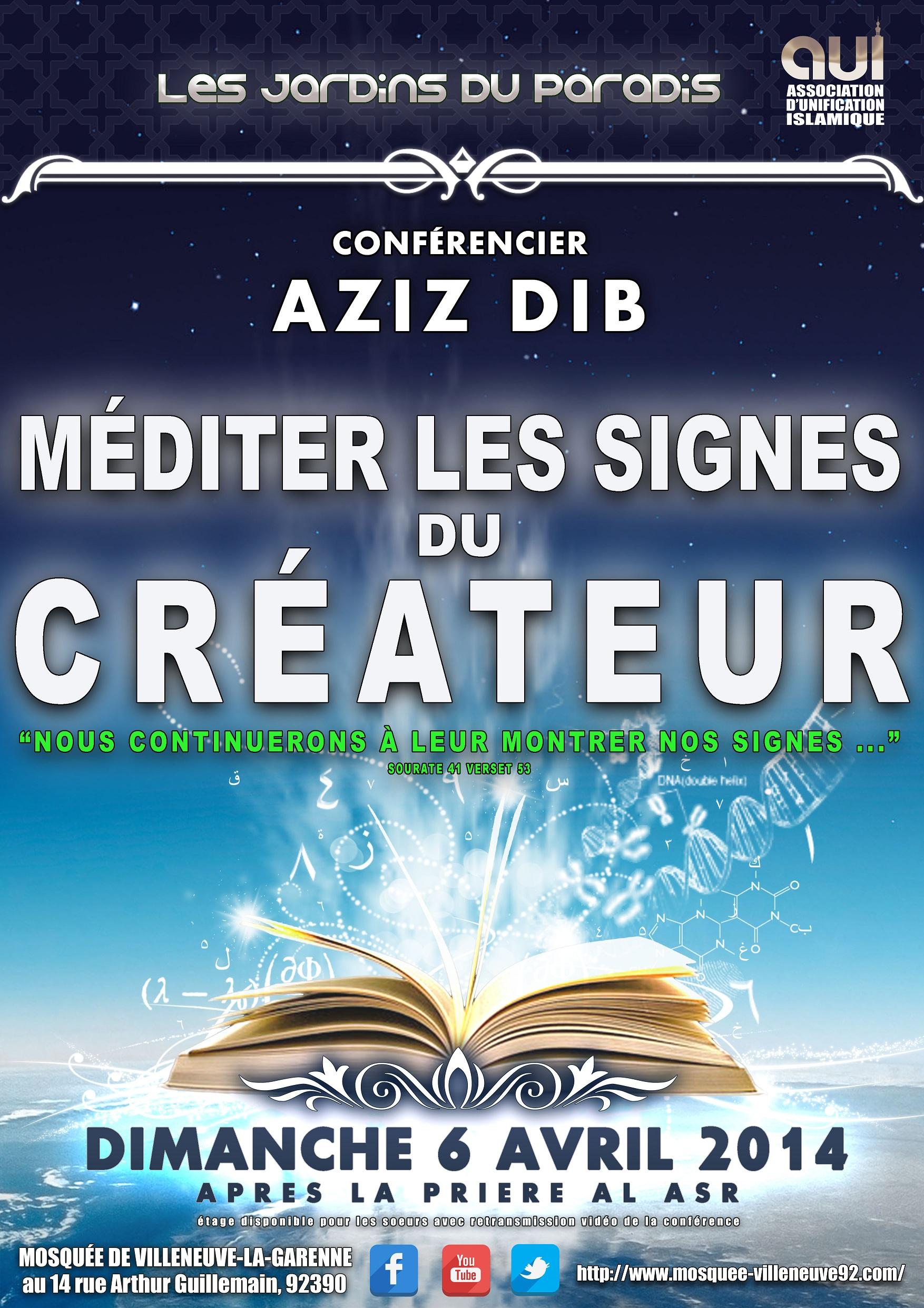 Affiche du Dimanche 6 Avril 2014 _ Méditer les signes du CREATEUR...